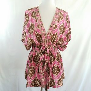 Plenty by Tracy Reese Anthropologie Silk Blouse L